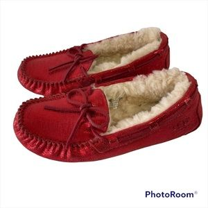 UGG red slippers size 7